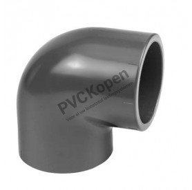 PVC knie 90°   50 mm   PN10 VDL