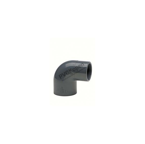 PVC verloop knie 90°   63 / 50 x 63 mm   PN10 VDL