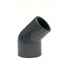 PVC knie 45° 63 / 50 x 63 mm PN10 VDL