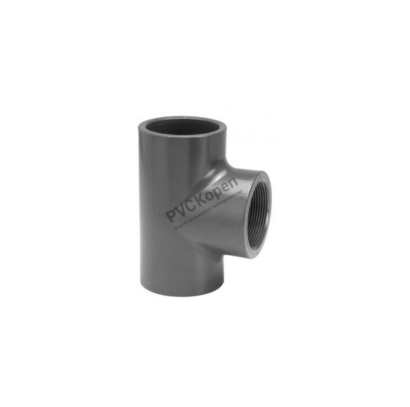 PVC T-stuk  50 x 1½'' binnendraad x 50   PN10 VDL