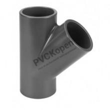PVC druk T-stuk 45°    16 mm    PN16 VDL