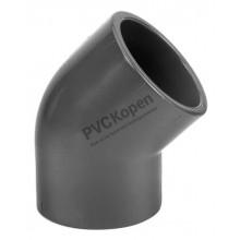 PVC knie 45°   10 mm   PN16 VDL