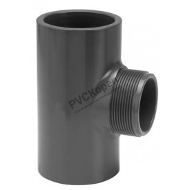 PVC T-stuk  20 x ¾'' buitendraad x 20   PN16 VDL