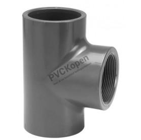 PVC T-stuk  16 x 3/8'' binnendraad x 16   PN10 VDL