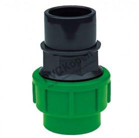 PE/PVC KOPPELING 25 PE X 25 BI/32 BUI PVC *VDL*