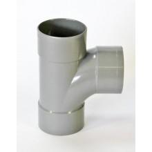 T-stuk 3x lijm mof 90 graden stromend - PVCkopen.nl