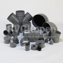 PVC hulpstukken lijm SN4 grijs